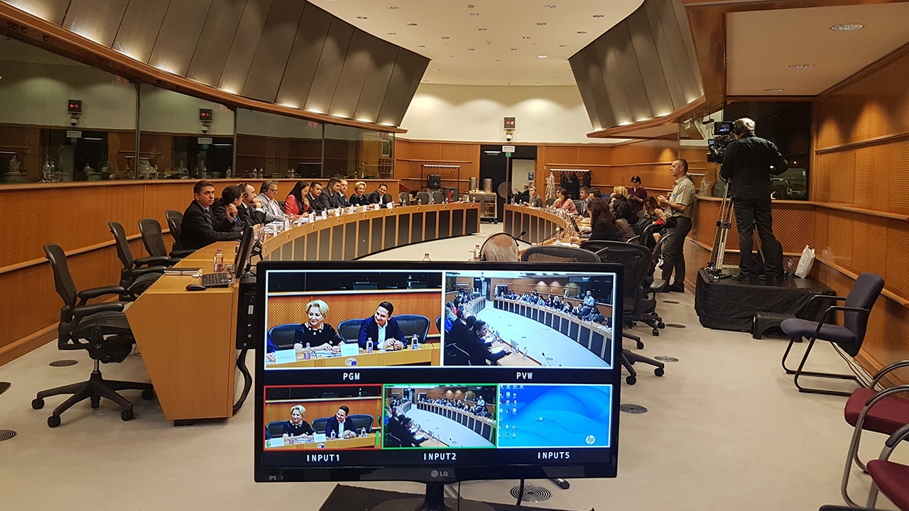 Camera's & Live stream @ Europees Parlement